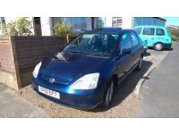 Honda Civic 1.6 VTEC SE spares or repairs