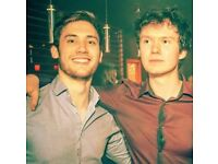 2 male students looking for 2 rooms in Edinburgh