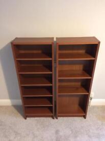 2x Ikea CD/DVD/Book brown shelves