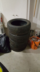 "Set of 4 17"" Studded winter tires"