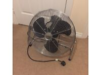 21inch diameter Stainless steel and Chrome ' Lervia ' 3 speed Floor Fan ( like new )