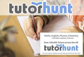 Tutor Hunt Epsom - UK's Largest Tuition Site- Maths,English,Science,Physics,Chemistry,Biology