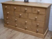 12 DRAWER OLD WOOD RECLAIMED PINE ANTIQUE STYLE MULTI CHEST WE CAN MAKE ANY SIZE