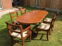 Quality Dining table and 6 chairs
