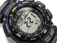 NEW Casio Triple Sensor Tough Solar Pathfinder Digital Mens Watch PAG240B-2