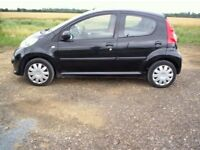 2007 PEUGEOT 107 SPECIAL EDITION BLACK BODYWORK RED AND GREY INTERIOR