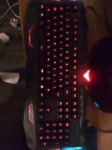 Gaming keyboard with mouse