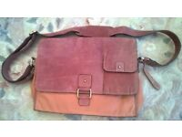 Clark's Brown Messenger Satchel Bag with Adjustable Strap. EXCELLENT CONDITION