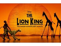 4x Tickets to see The Lion King @ Lyceum Theatre, Tonight, 18th August @ 7:30pm, Stalls seat, T row