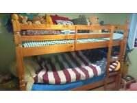 Bunk beds solid pine
