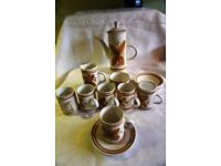 THE MONASTERY RYE CINQUE PORTS 1970s RETRO COFFEE SET COLLECTABLE