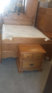 7 pc oak bedroom suite!!!!