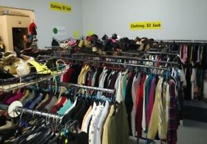 WEEKLY INDOOR SALE! Clothes $2 each, lots of new items!