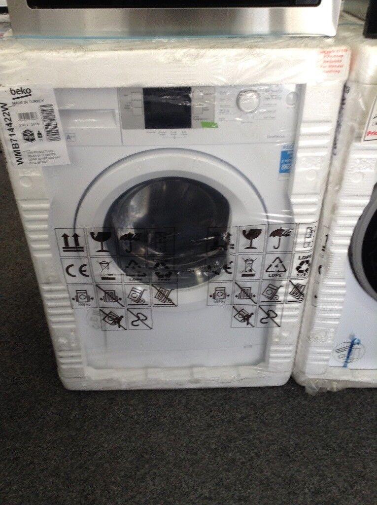 Beko 7kg 1400 spin washing machine. NEW.