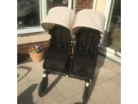 Bugaboo Donkey duo with carry cot all black frame limited edition
