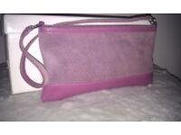 Suede Pink Handbag