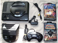 sega megadrive 1 with master system converter, controller and games!!!