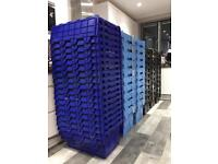 10x 56L Totes Industrial packing moving storage crates collect From SW London. 60 available.
