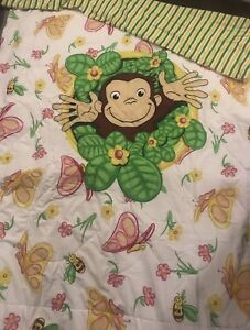 Curious George Twin Comforter + Fitted sheet & pillow case