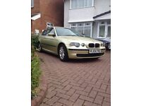 BMW 316ti ES compact full MOT very low miles drives brilliant only 3 owners