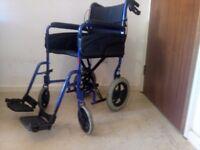 Invacare Alu Lite Manual Lightweight Aluminium Portable Transit Wheelchair