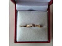 9CT GOLD & DIAMOND DRESS RING, INSURANCE VALUATION £350 (SN9)