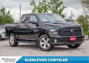 2016 Ram 1500 Sport | LEATHER | ROOF | NAV | BU CAMERA