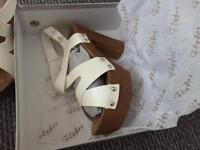 Brand new women's white size 6 shoes