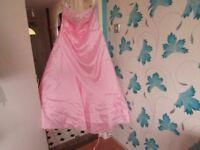 BEAUTIFUL LADIES POWDER PINK DRESS,WEDDING,PARTY SIZE 24