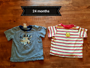 Boys t-shirts 9 month's up to 24 months