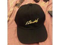 New Big Sean I Decided Black Gold Embroidered Cap Hat Strapback Palace Skateboards Tour Merch Kanye