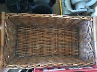 Large wicker storage baskets