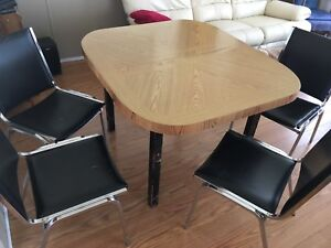 Dining table plus 4 chairs with delivery