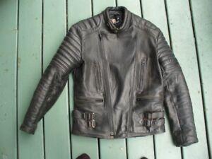 Manteau de cuir pour moto femme small
