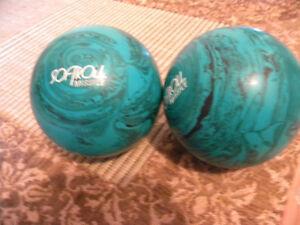 Boule bowling softroll verte