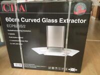CDA. 60cm curved glass extractor