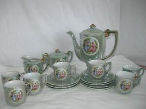 Porcelain Coffee Set from 30's or 40's  for sale