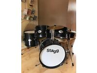 Stagg 5 piece Drum Kit with Stool