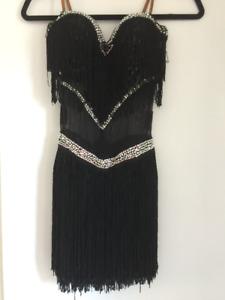Latin Dress, Prom Dress, Black Dress | Swarovski Stones