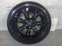 ALLOYS X 4 OF 20 INCH GENUINE RANGEROVER DISCOVERY FULLY POWDERCOATED INA STUNNING HIGHGLOSS BLACK