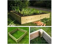 Raised garden planter - 4ft x 4ft x 6inch - custom sizes - custom made