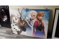 pictures for childs room ( frozen ) 10.00 ono ex cond