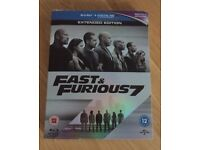 Fast & Furious 7 blu-ray (extended edition)