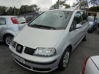 SEAT ALHAMBRA 1896cc TDI S TURBO DIESEL 7 SEATER MPV 2003-53, 2 FORMER KEEPERS