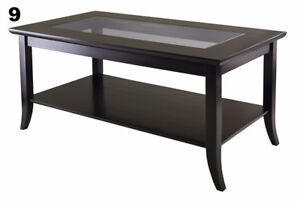 Table basse avec plateau en verre/able with Glass Top like NEW