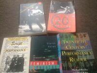 Academic books on theatre/feminist theatre and scriptwriting