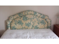 """Fabric covered headboard for double (4'6"""") bed"""