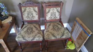 Antique love seat and chairs