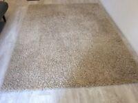 100% wool rug - mixed shag pile, neutral/ beige