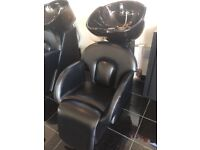 Used hairdressers chair and sink